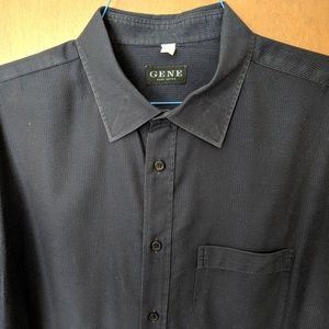 Men's Gene Meyer Button Down Dress Shirt Size 2X